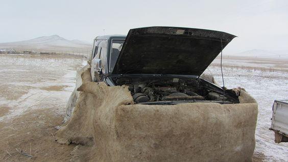 Stuck in the Mongolian Gobi desert