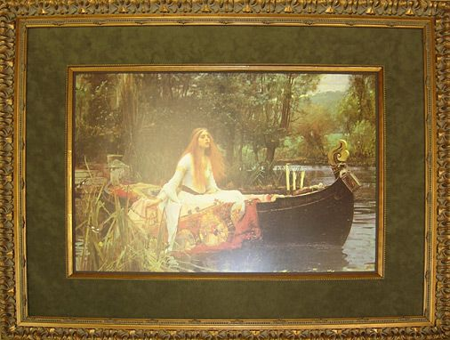 Custom framed Waterhouse print by Big Picture Framing. The Lady of Shalott.