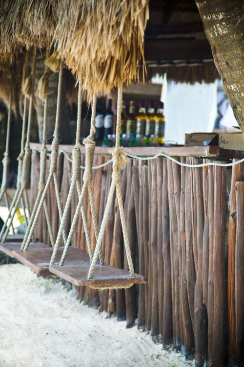 Beach houses swings and beaches on pinterest for Beach bar design