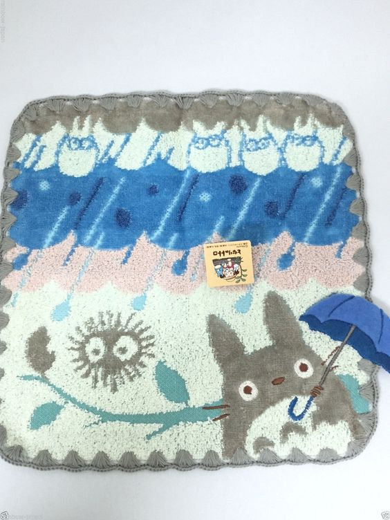 My Neighbor Totoro Hand Towel 25.5 x 25.5cm Cotton 100% Studio Ghibli 03142