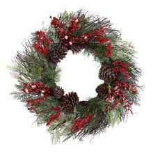White & Red Wreath by Celebrate It