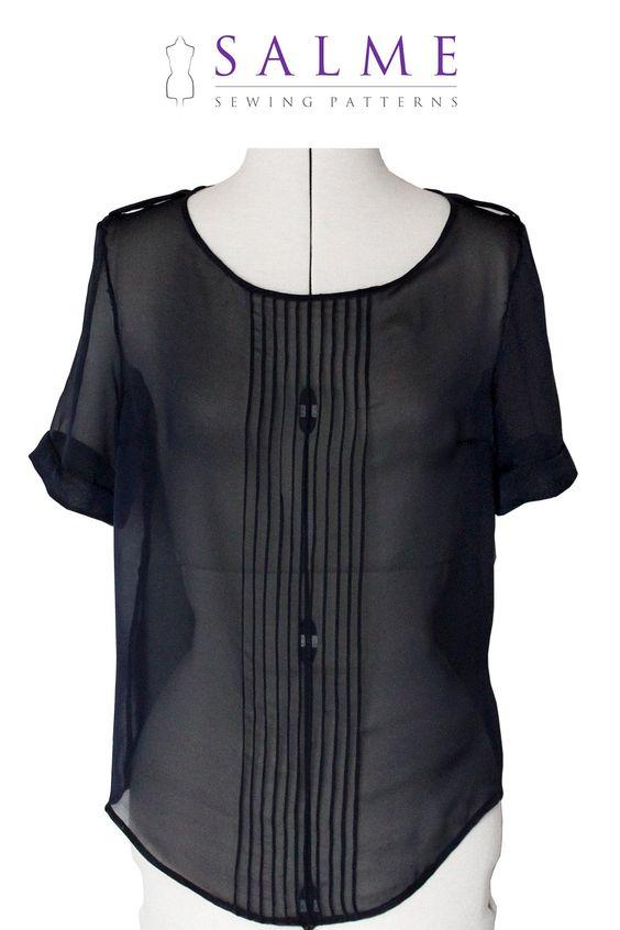 PDF+Sewing+pattern++Lydia+Blouse+by+Salmepatterns+on+Etsy,+$7.00 ...
