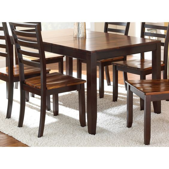 Greyson living acacia 5 foot solid wood dining table by for Solid wood round dining table with leaf