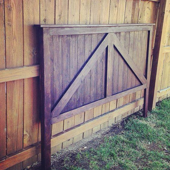 Twin full queen king size barn door headboard barndoor for Barn door home decor