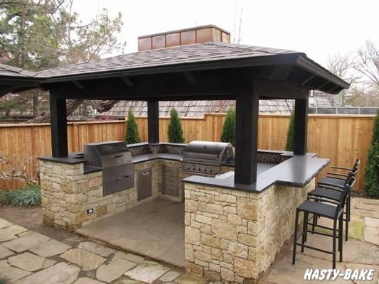 Outdoor Bbq Island I Miss My Bbq But Want An Island A Mini Pool Is Quickly Set Up Often Surprisingly Chea In 2020 Backyard Kitchen Outdoor Kitchen Outdoor Bbq