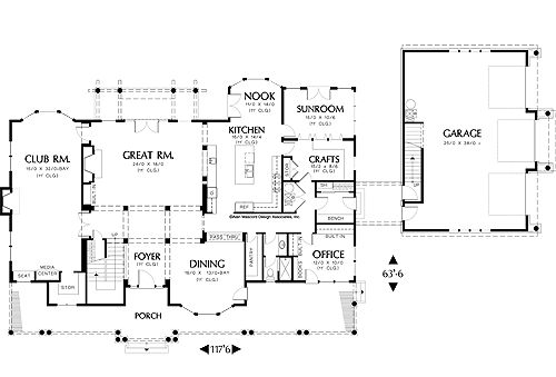 3 Car Garage Green Bedrooms And Floor Plans On Pinterest - House ...