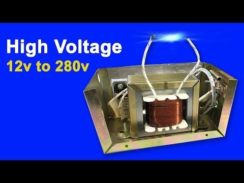 How To Make Super High Voltage Using Transistor D718x4p With Dc12 Voltage Dc 12v To 280v Youtube High Voltage Transistors Power Supply Circuit
