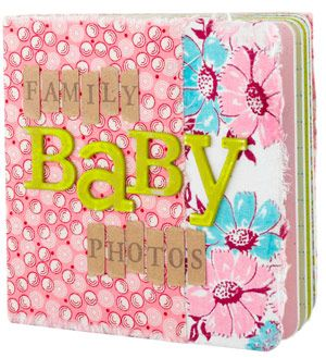 Family Baby Photo Album- Such a cute idea! Scrapbook infant pictures of your relatives and children.
