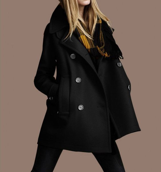 Black Wool Coat.