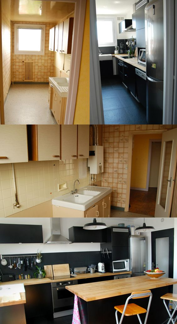 avant apr s cuisine bricolage avant apr s pinterest. Black Bedroom Furniture Sets. Home Design Ideas