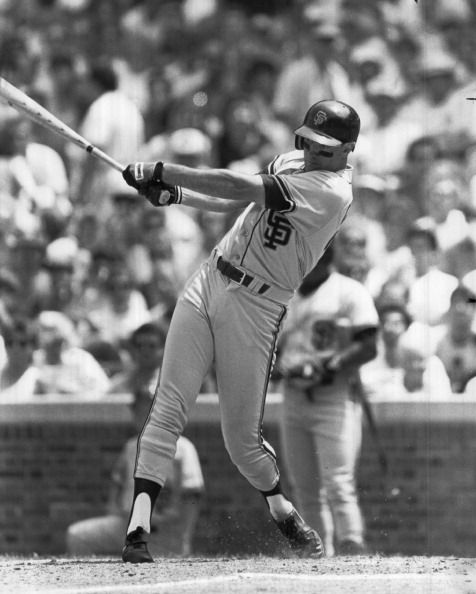 Will Clark of the San Francisco Giants bats wearing Franklin circa 1980s