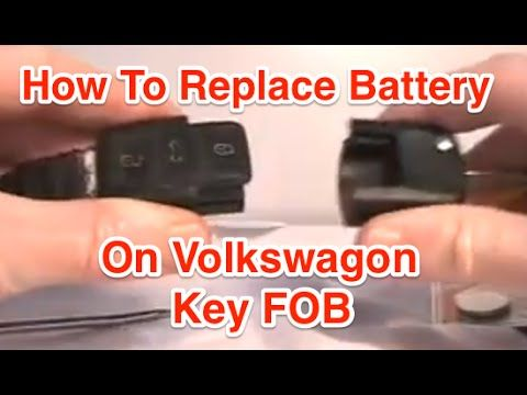 How To Replace Key Fob Battery On Vw Jetta Youtube Vw Jetta Battery Key Fob