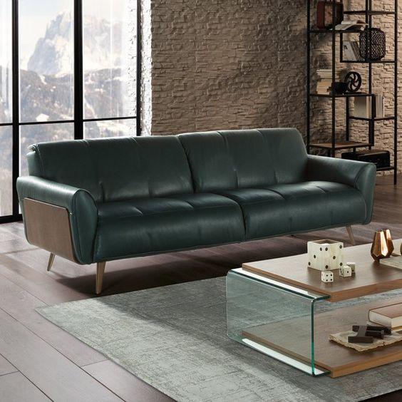 Những xu hướng thiết kế phòng khách đẹp, đơn giản năm 2018 với sofa da tphcm