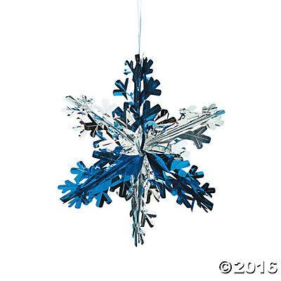 Foil Snowflake Decorations