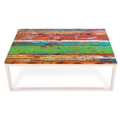 EcoChic Lifestyles Rising Tide Wood Coffee Table
