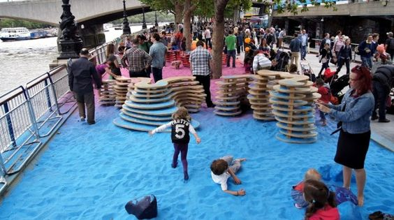 Fun Rainbow Park Installation by Adam Kalinowski   Wave Avenue