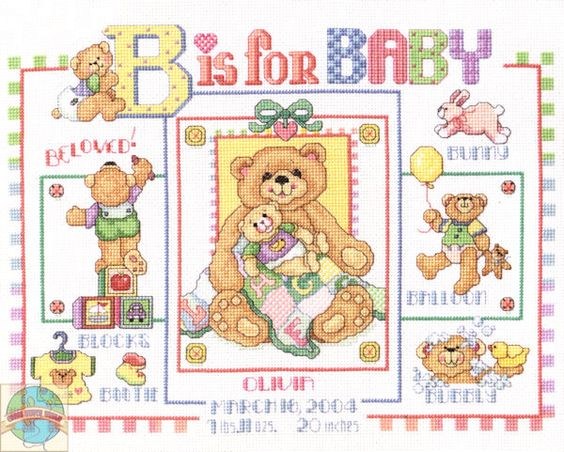 Janlynn B is for Baby Birth Announcement Cross Stitch World – Baby Birth Announcement Cross Stitch Patterns