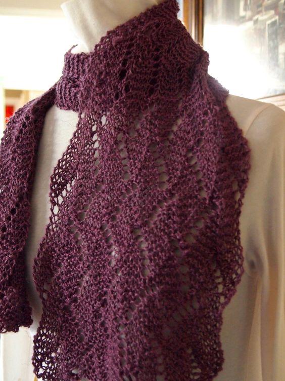 Knitting Patterns Wave Scarf : Knitting Pattern - Garden Wave Gardens, Hand knitting and Knitting patterns