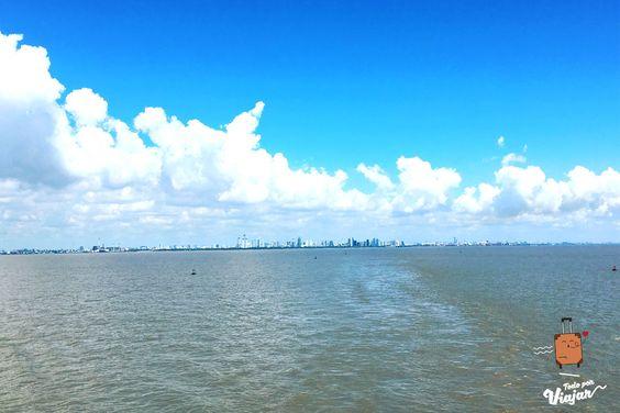 Vista de Buenos Aires partiendo hacia Colonia del Sacramento