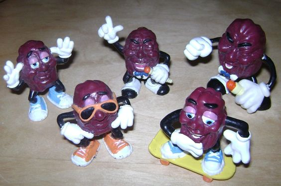 There was no shame in collecting California Raisin figures at Hardees in the late 80's.