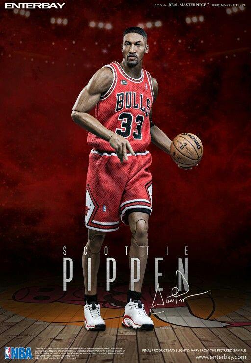 Custom 1//6 Scottie Pippen 33 Portland Trail Blazers jersey NBA TOYs