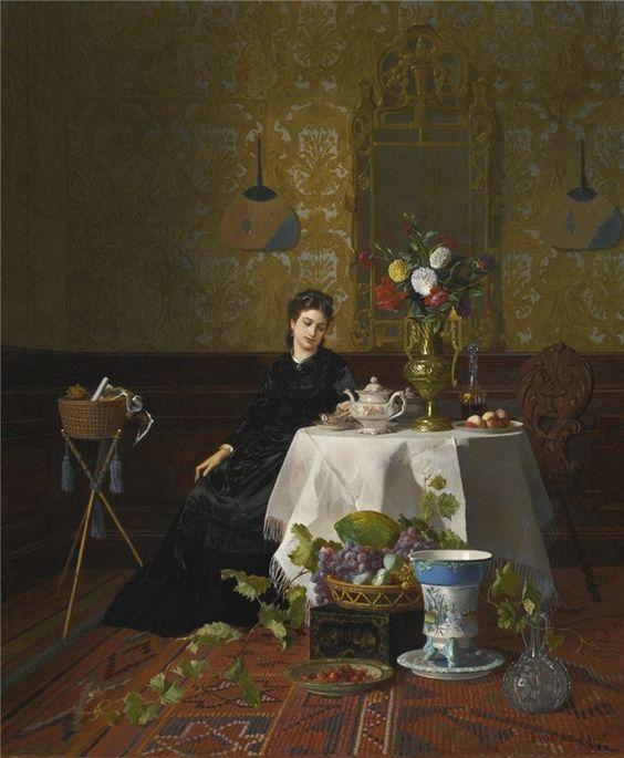 david-emile-joseph-de-noter-belgium1818-1892-taking-tea.jpg (632×768)