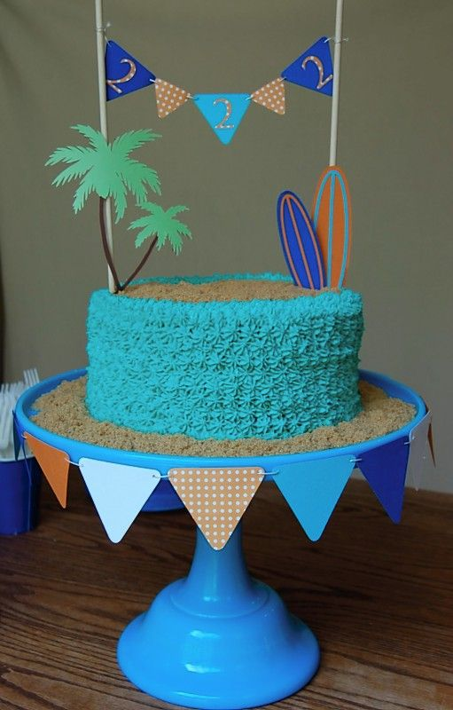 Beach themed party cake!: