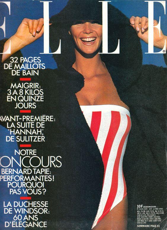 Elle MacPherson, Elle Magazine France, May 1987