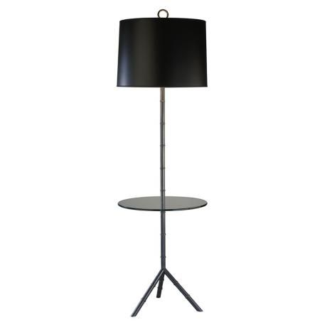 jonathan adler meurice patina bronze tray table floor lamp. Black Bedroom Furniture Sets. Home Design Ideas