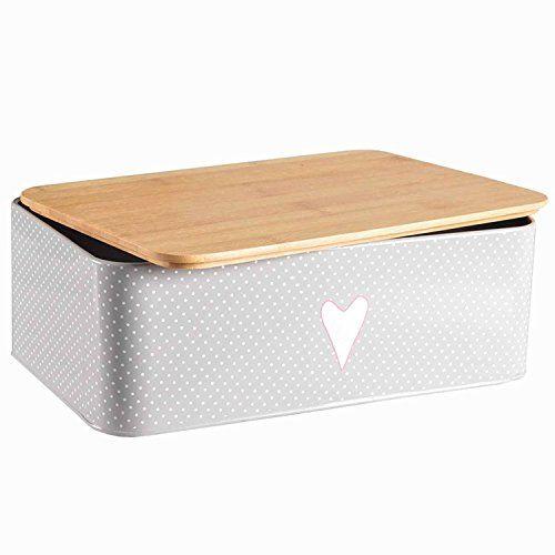 Brotkasten Brotbox Metall Bambus Brotbehälter mit Deckel - Küchen Kaufen Ikea