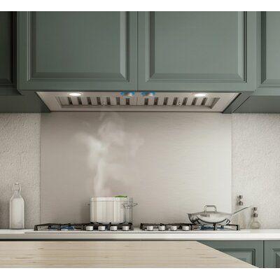 Elica 34 5 1200 Cfm Convertible Insert Range Hood In Stainless Steel Wayfair Range Hood Kitchen Soffit Stainless Steel Range