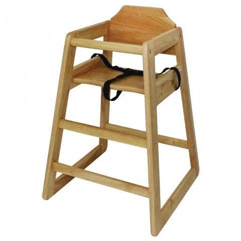 Chaise Haute En Bois Bolero Finition Naturelle Chaise Haute Chaise