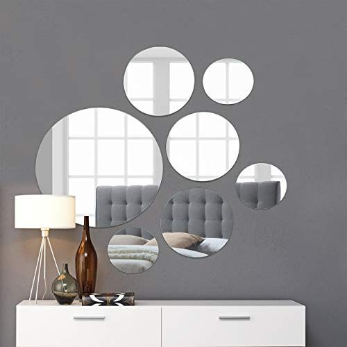 Circle Mirror Wall Decor, Mirrored Circles Wall Decor