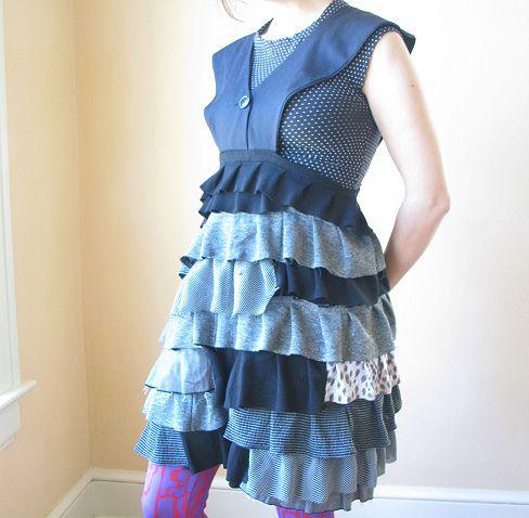 Cute upcycled tshirt dress