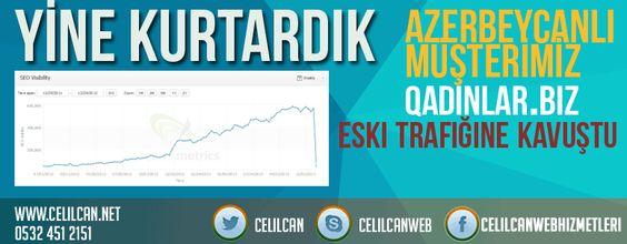 Azerbaycanlı müşterimiiz qadinlar.biz sitesini google cezalarından kurtardık. Eski trafiğine kavuşturduk. Seo çalışmalarınız ve link temizleme hizmetlerimiz ile sizlern yanındayız