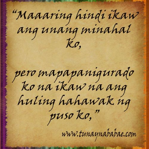 Tagalog Quotes About Love