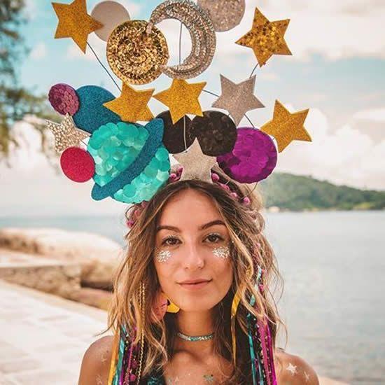 Rainbow Glitter Star Shades Glasses Fancy Dress Up Halloween Costume Accessory