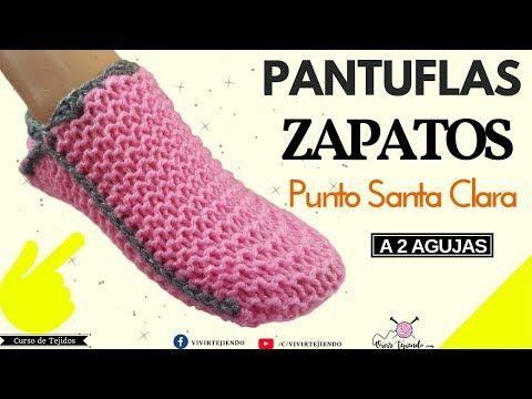 Como Tejer Pantuflas Babuchas A Dos Agujas Paso A Paso Tejidos A Dos Agujas Youtube Como Tejer Pantuflas Pantuflas Pantuflas Para Hombre