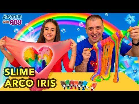 Hacemos Arco Iris De Slime Rainbow Slime Challenge Aby Youtube Arco Iris Iris Hacer Arcos