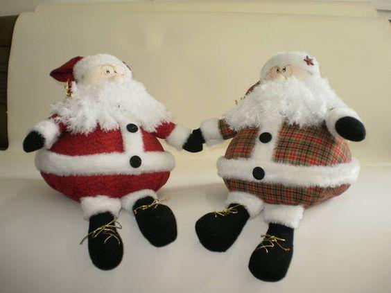 Papai Noel Confeccionado em tecido 100% algodão. OBS. No pedido informar o código 01 para Papai Noel vermelho e 02 para o papao Noel xadrez R$ 118,00