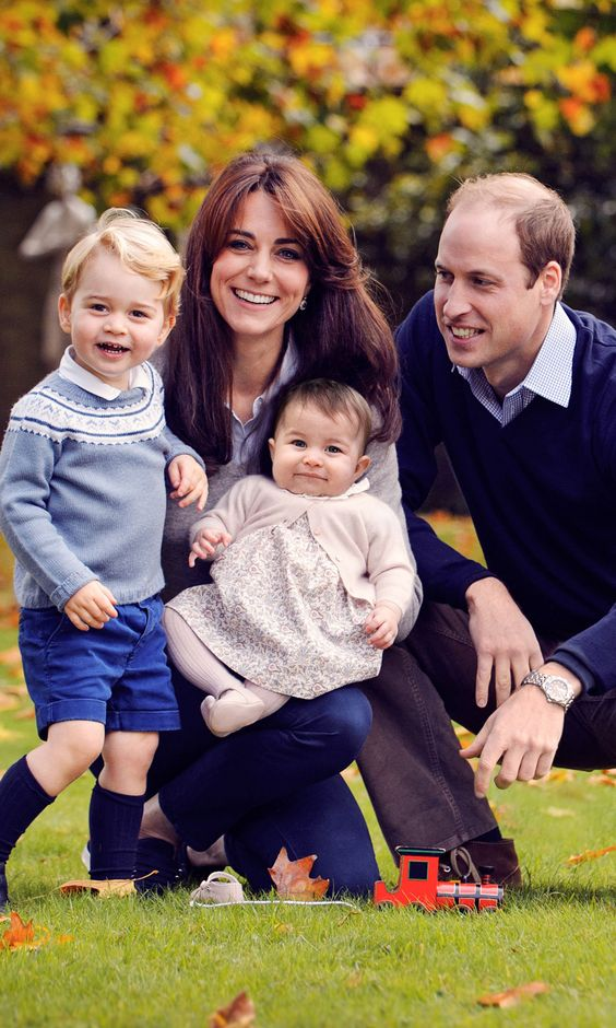 Prince George and Princess Charlotte Flash Gorgeous Smiles in a New Royal Family Portrait
