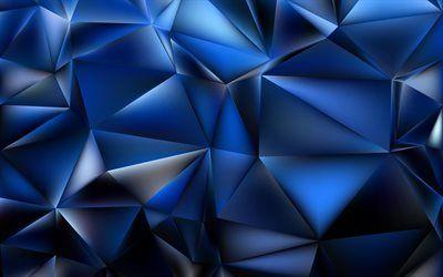 تحميل خلفيات المضلعات مثلثات 4k الأشكال الهندسية الهندسة خلفية زرقاء Besthqwallpapers Com Geometric Shapes Geometry Geometric