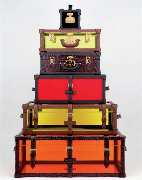 Wanderlust    We're thinking of getting away! What better way to travel than with a stack of Loewe luggage??