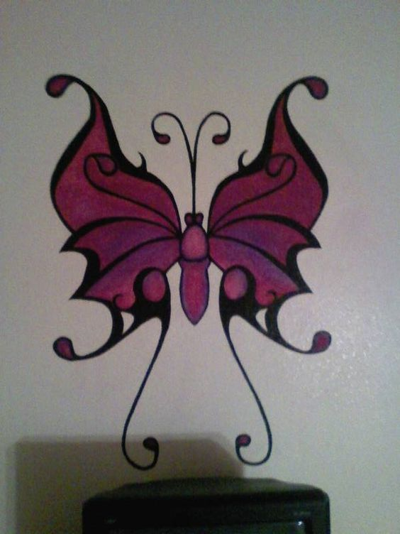 Wall mural Butterfly Finished