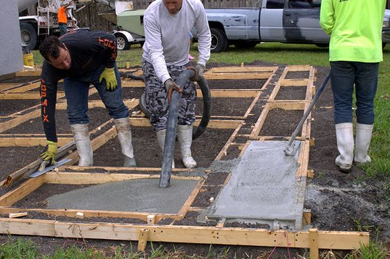 Create a Stylish Patio with Large Poured Concrete Pavers ... on Poured Concrete Patio Ideas id=34012