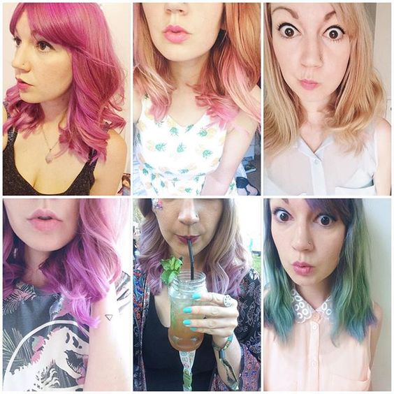 All the colours my hair has been the past month
