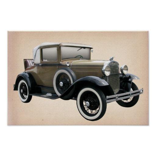 Oldtimer Car Poster