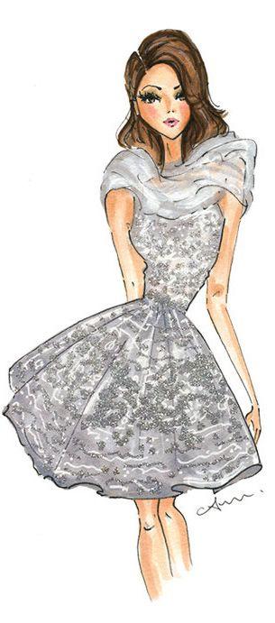 Fashion Illustration Print, Zuhair Murad Couture by Anum Tariq