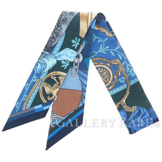 エルメス スカーフ ツイリー シルクツイル カヴァッレリア・デトリエ Cavalleria d'Etriers HERMES シルクスカーフ
