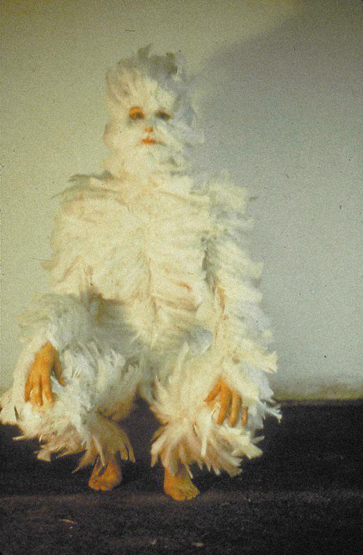 Ana Mendieta - Bird Transformation, 1972   the love of ...  Ana Mendieta Chicken Piece